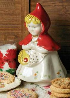 Little Red Riding Hood Cookie Jar - Reproduction of Hull Pottery original created in 1905