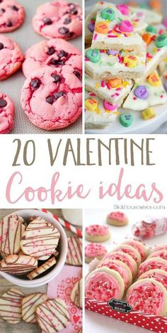 Valentine Cookies Recipe 20 Valentine Cookie Recipes that you will fall in LOVE with! These are the best Desserts for Valentines Day including Heart Shaped Cookies Recipes and More! Valentine Desserts, Valentines Day Food, Valentine Cookies, Valentine Cookie Recipes, Valentines Baking, Valentines Treats Easy, Valentine Party, Low Carb Cheesecake, Valentine's Day Quotes