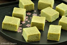 Matcha Nama Chocolates -- white chocolate and green tea-like fudge