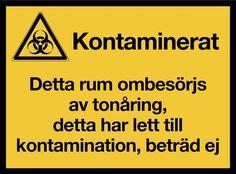 KM018 - Klistermärke - Kontaminerat rum 0