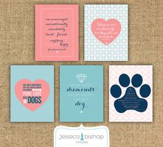 BUY 5 PRINTS get 30 OFF Dog Quote Prints by JessicaBishopPaperie