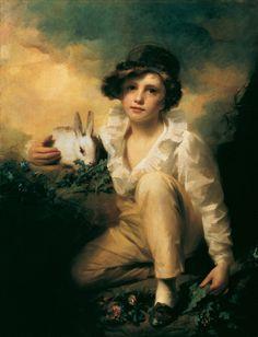 Henry Raeburn (British: 1756 – 1823) - Boy and Rabbit (1814)