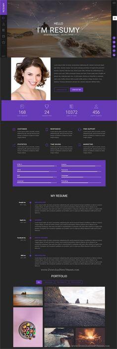 Resume infographic : Resume infographic : Resumy is a clean and modern design responsive - Resumes. Resume Design, Branding Design, Cv Website, Personal Website Design, Resume Examples, Resume Ideas, Resume Tips, Amazing Website Designs, Infographic Resume