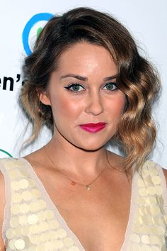 Lauren Conrad's side-swept up-do - celebrity hair and hairstyles
