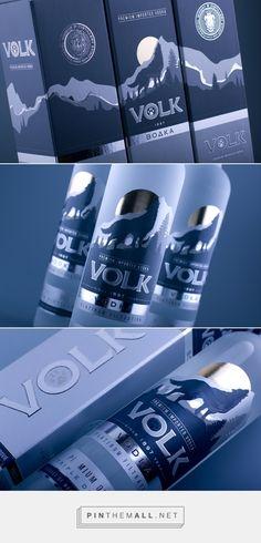 Vodka VOLK packaging design by BrandMeisters - http://www.packagingoftheworld.com/2016/11/vodka-volk.html