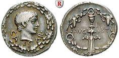 Caius Caesar, Enkel des Augustus, gest. 4 n.Chr. Denar 17 v.Chr. VF+, leicht dezentriert
