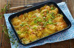 Oppskrift på potetform med smak av røkelaks og pepperrot. En herlig… Lasagna, Macaroni And Cheese, Ethnic Recipes, Food, Lasagne, Essen, Mac And Cheese, Yemek, Meals
