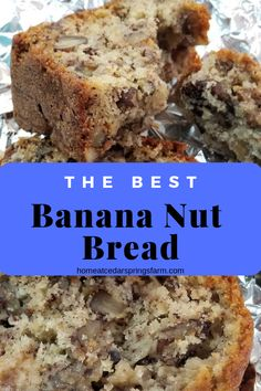 This is the only recipe you will need for Banana Nut Bread It s that good So easy to make and tastes amazing Sugar shortening eggs bananas flour baking soda baking powder salt and pecans Easy Bread Recipes, Banana Bread Recipes, Gourmet Recipes, Taste Of Home Banana Bread Recipe, Banana Bread Recipe With Walnuts And Chocolate Chips, Banana Bread Recipe With Shortening, Banana Bread Recipe With Baking Powder, Best Ever Banana Nut Bread Recipe, Banana Bread Recipe Pioneer Woman