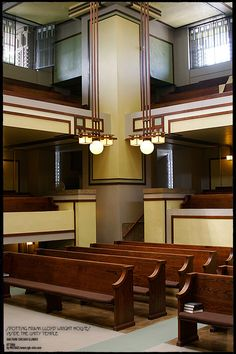 Inside the Unity Temple - FRANK LLOYD WRIGHT HOUSES PHOTOGRAPHY CHICAGO / MICHAEL LEVY STUDIO / TYPOLOVER