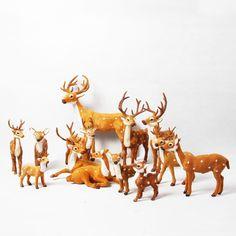 Mini brinquedo bonito veados veados decor para Christmaa ideal presentes para as crianças 8 * 4 * 10 cm em Decoração de natal de Casa & jardim no AliExpress.com | Alibaba Group