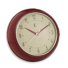 Geneva Red Plastic Diner Wall Clock | Bed Bath Beyond