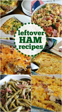 Leftover Ham? Try one of these recipes - casseroles, sandwiches, salads, soups and breakfast included!