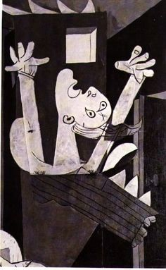 Cubism, Guernica by Picasso, details, fear Pablo Picasso Artwork, Picasso Guernica, Picasso Paintings, Cubist Movement, Street Art, Abstract Drawings, Abstract Paintings, Spanish Painters, Art Moderne
