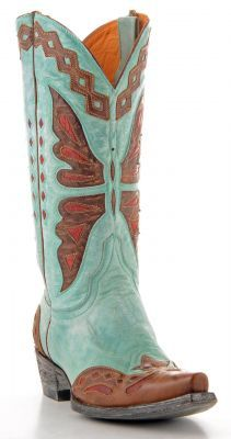 Womens Old Gringo Monarca Boots Aqua #L026-37 via @Allens Boots