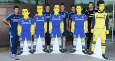 Petr Cech, Eden Hazard, Frank Lampard, John Terry e Fernando Torres. (Chelsea - Simpsons)
