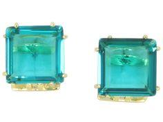 Brinco cristal turquesa! Lindo!!! Folheado a ouro 18k.  #castelloreis #semijoias #brincos #cristais #moda