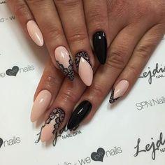 Zobacz zdjęcie Elegancka koronka nigdy nie wychodzi z mody. Nigdy!!! Produkty: lakiery hybrydowe SPN Nails UV LaQ: 503, 510, 521 Paznokcie: Alesia, Salon Lejdis, SPN Nails Team w pełnej rozdzielczości
