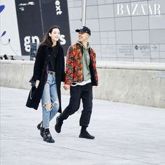 The couple that street styles together stays together  See more of #SFW's best #streetstyle moments in action on harpersbazaar.com.sg! (: @halopeoplekr) #HarpersBazaarSG #HERASeoulFashionWeek #HERASG #SFW  via HARPER'S BAZAAR SINGAPORE MAGAZINE OFFICIAL INSTAGRAM - Fashion Campaigns  Haute Couture  Advertising  Editorial Photography  Magazine Cover Designs  Supermodels  Runway Models