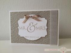 KreativSchlösschen: Wedding invitation Hochzeits-Einladungskarte ''Mr. & Mrs.''