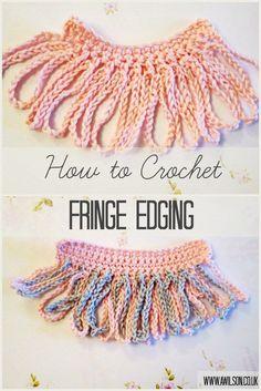 how to crochet fringed edging
