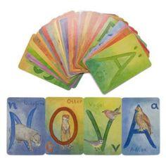 Alphabet Cards above chalkboard
