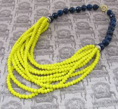 Midnight Blue & Yellow Necklace