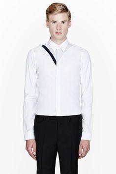 KENZO White trompe l'oeil shirt