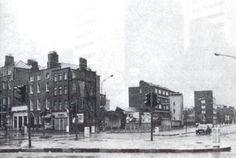 Corner of Cuffe St and Harcourt St, Dublin, 1970s.