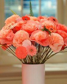 Bouquet de fleurs confectionné avec des caissettes