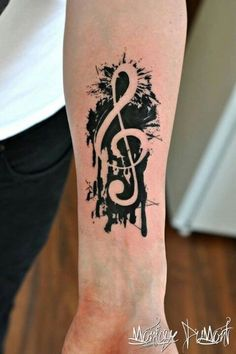 I love this one!!!!! (to considered for my music tattoo) Only in a different place and smaller.