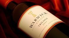 Warwick makes excellent quality wines and my favourite is the Trilogy. Warwick is between Stellenbosch and Klapmut in Cape Town South African Wine, Growing Grapes, Grape Juice, Wine Label, Grape Vines, Wines, Red Wine, My Favorite Things, Cape Town