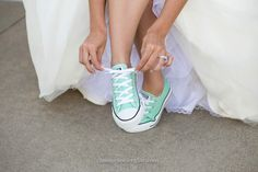 Mint converse for wedding.