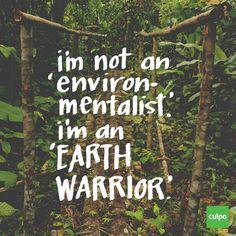 eu não sou um ambientalista. Eu sou um guerreiro terra
