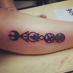 multiple fandom tattoo sleeve - Google Search