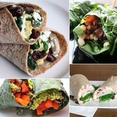 20 Healthy Wrap Recipes! Perfect for easy lunches!