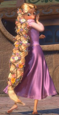 Rapunzel - My daughter and I have watched this movie dozens of times. She even carried her own frying pan to Disney to have Rapunzel sign it! Disney Rapunzel, Walt Disney, Rapunzel And Flynn, Princess Rapunzel, Disney Magic, Disney Art, Disney Movies, Disney Characters, Rapunzel Braid