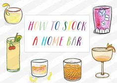 Oh So Beautiful Paper How to Stock a Home Bar Friday Happy Hour: How to Stock a Home Bar
