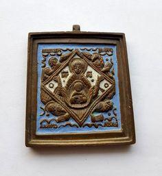 Икона «Богоматерь Знамение с символами Евангелистов». Эмаль - Форум