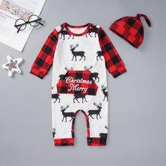 Unisex Baby Christmas Plaid Jumpsuit - anmino Plaid Christmas, Christmas Baby, Baby Onesie, Onesies, Holiday Fashion, Kids Fashion, Beautiful Babies, Most Beautiful, Baby Boy Jumpsuit