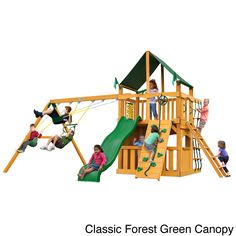 Gorilla Playsets Chateau II Clubhouse Cedar Swing Set