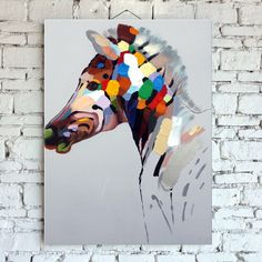 Hand-painted oil painting on canvas. Horse?