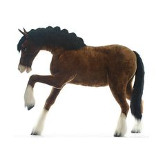 Hansa Clydesdale Horse ❤ liked on Polyvore