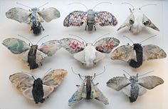 bugs Textile Sculptures by Mister Finch.