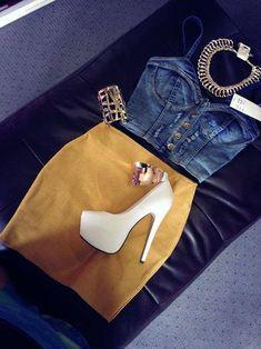 Style Inspiration - Secrets of stylish women Fashion Killa, Look Fashion, Fashion Outfits, Womens Fashion, Fashion Trends, Fashion Drug, Fall Fashion, Club Outfits, Night Outfits