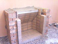 Outdoor Fireplace Plans, Outdoor Fireplace Designs, Backyard Fireplace, Home Fireplace, Corner Stone Fireplace, Stone Fireplace Makeover, Barbecue Design, Grill Design, Outdoor Kitchen Design