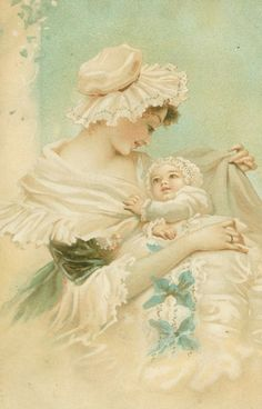 mother+and+child+vintage+postcard. Art, Age of Innocence, Children