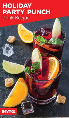 If you're anything like us, then there's nothing better to cheers to a festive season than with a cocktail containing vodka, sparkling cider, cranberry juice, ginger ale, and a slice of orange. Check out this Holiday Party Punch drink recipe for yourself