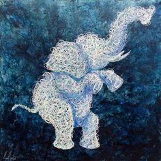 Artist : Manuel Miguel, Title : De la serie tejidos internos (elephants).