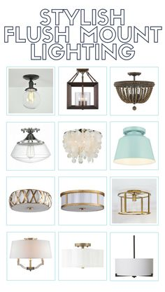 Flush mount lighting can get a bad rap. Here are twelve gorgeous flush mount lighting options that will make your heart sing! Chandeliers, Hallway Lighting, Low Ceiling Lighting, Accent Lighting, Kitchen Lighting Fixtures, Hallway Light Fixtures, Farmhouse Lighting, Flush Mount Lighting, Home Decor Kitchen