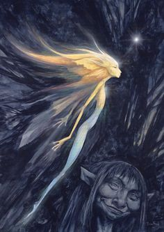 Thrusting Faery by Brian Froud